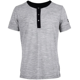 super.natural Comfort Henley Men Ash Melange/Jet Black